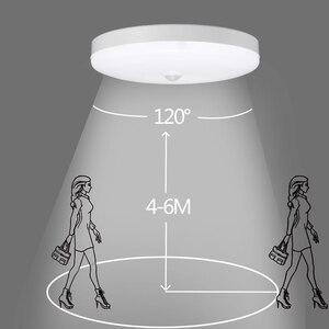 Image 4 - Led gece işığı lambası hareket sensörlü ışık PIR ampul 12W 18W LED tavan lambası merdiven koridor ev için merdiven çocuk Nightlight
