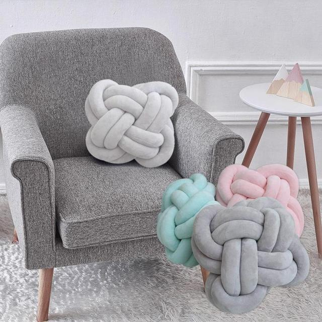 Creative Knot Ball Pillow Decorative Cushions For Sofa Home Living Room Pillows Office Seat