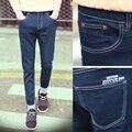 2017 New Summer Mens Jeans Famous Brand Jeans Men Biker Jeans Cotton Long Denim Fitness Fashion Solid Trousers Men Big Size 40