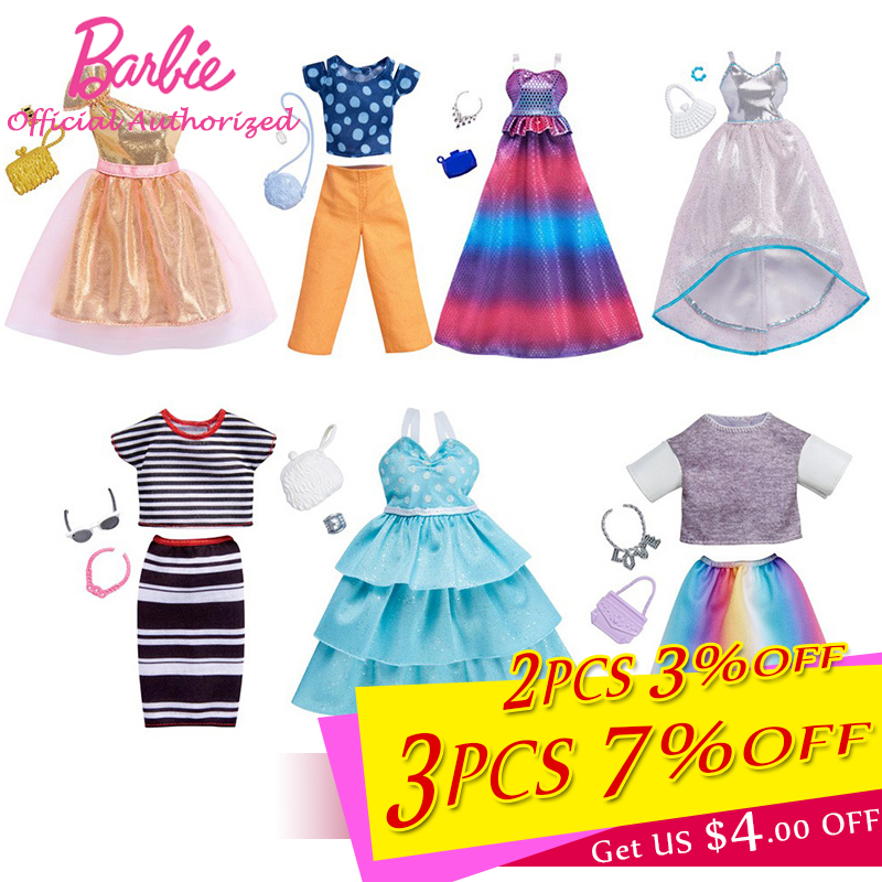 2018 New Fashion Barbie Clothes Accessories Different Dress