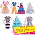 2018 Новая мода Одежда для Барби аксессуары разное платье осенние туфли для 28 см кукла игрушка красивая Барби ручная сумка для детей игрушка - фото