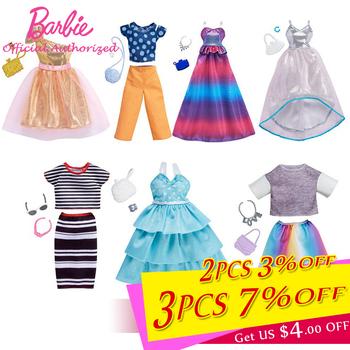 Modne ubrania Barbie akcesoria różne sukienki spódnica buty dla 28cm lalka zabawka piękna torebka Barbie na zabawka dla dzieci tanie i dobre opinie Z tworzywa sztucznego FKT27 Barbie Clothes Unisex Styl życia 23*6*33cm Akcesoria dla lalek Other Skirt 28-30cm Doll