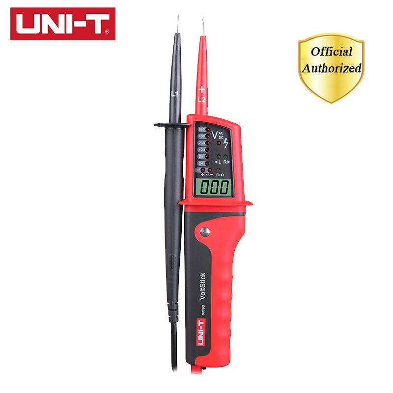 UNI-T UT15C водонепроницаемый цифровой измеритель напряжения 24 В ~ 690 В тестер напряжения переменного/постоянного тока с ЖК-дисплеем Автоматичес...