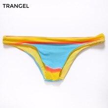 2016 Women s Sexy Hawaiian Brazilian Tanga Bikini Swimwear Bathing Suit Semi Thong Bottom S M