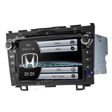 8 «HD цифровой сенсорный экран 2 din стерео радио DVD плеер gps руль для Honda CRV 2007 2008 2009 2010 2011