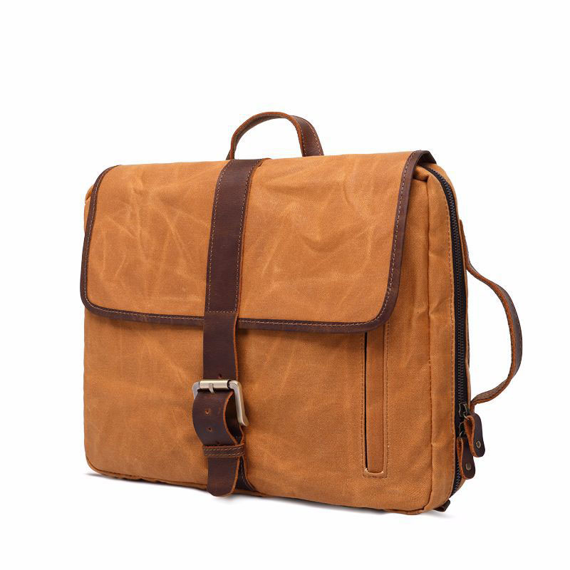 2018 Travel Men's Fashion Style Men's Canvas Backpack MultIfunction Leisure Laptop Backpack Large Capacity Solid color Backpack retro style two front pockets laptop compartment vintage canvas solid color backpack