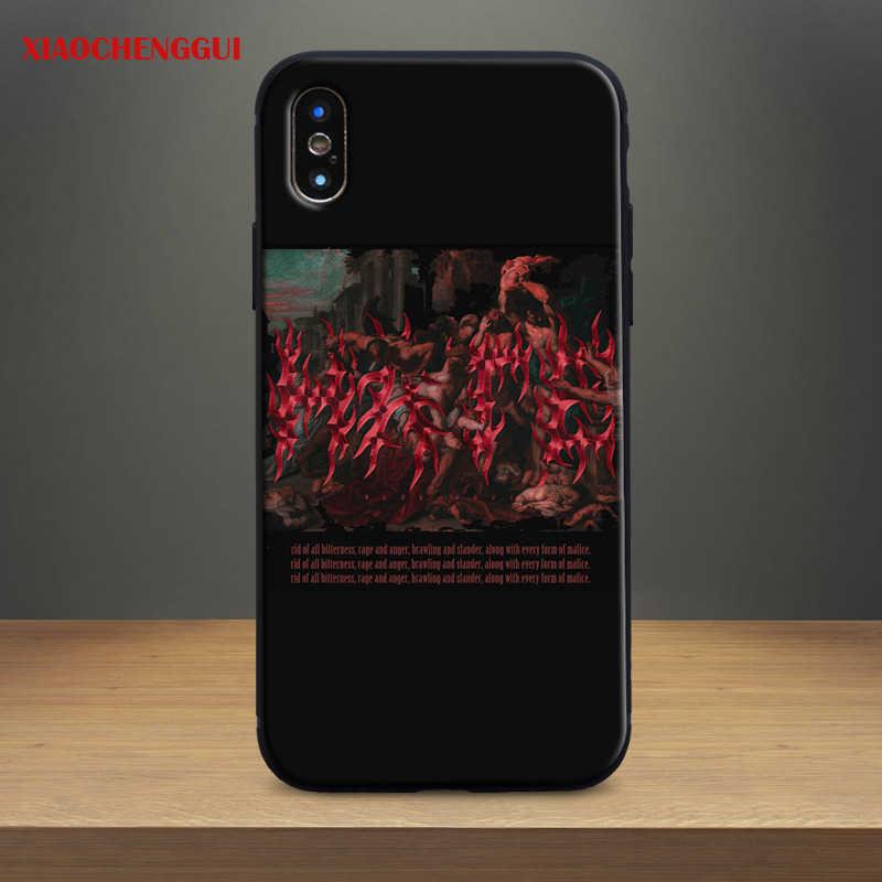 Ästhetische indie Ästhetik Muster malerei Weichen Silikon Telefon Fall Shell Für Apple iPhone 5 Se 5 s 6 6 s 7 8 Plus X XR XS MAX