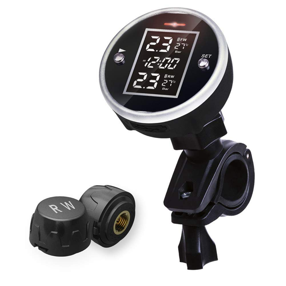 Wireless Motorcycle Tire Pressure Alarm Monitor System TPMS LCD Display Motor 2 External Sensor Temperature Alarm steelmate motorcycle tpms tire pressure monitor motorcycle alarm system waterproof external sensor wireless lcd display