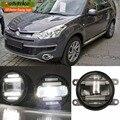 Eemrke estilo do carro para Citroen c-crosser 2007 - 2012 2 em 1 multifunções LED de luzes diurnas nevoeiro DRL com lente
