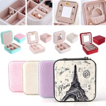 For 11.11 Travel Cosmetic Leather Jewelry Box Necklace Ring Storage Case Organizer Display цена и фото