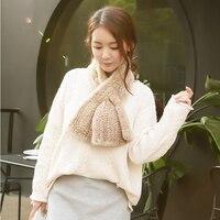 Wholesale New 2018 Modern Women Mink Fur Shawl Good Gift Real Fur Scarf Genuine Mink Scarf Hand Knitted Mink Scarf Winter Fur
