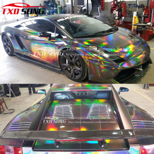Image 2 - TXD ホット製品ホログラフィック虹フィルム箔車ラップビニール 20*149 センチメートル/ロット送料無料