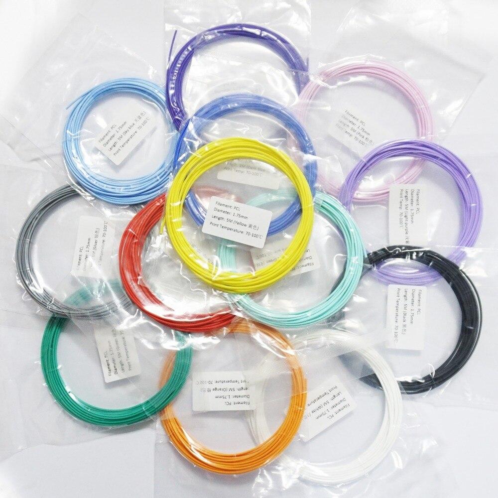 65 Meters 13 Colors 1 75mm Filament DEWANG X4 Low Temperature 3D Pen Plastic Printer Material