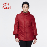 Astrid 2018 Winter Coat Women large Size Winter Jackets solid three quarter High Quality Fashion cotton Coats New 5XL AM 2632