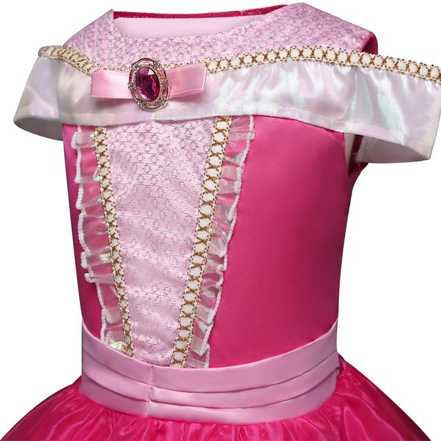 Girls Princess Costume Sleeping Beauty Dress up Kids Sequins Party Dress Children Girl Carnival Fancy Dress Birthday Ball Gowns
