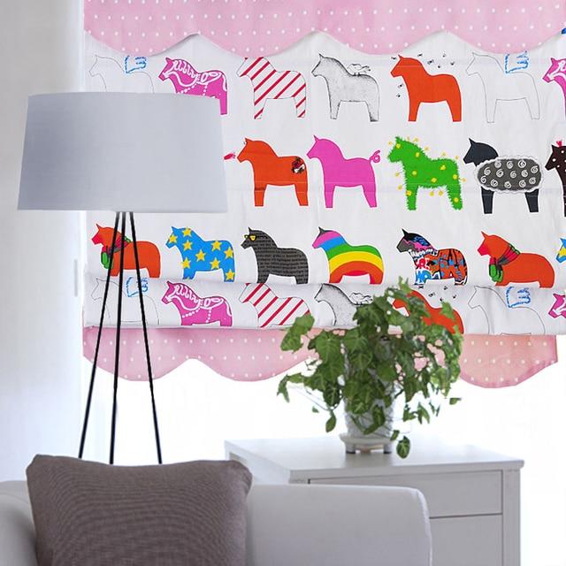 Aliexpress.com : Buy Horses roman blinds for children living room ...