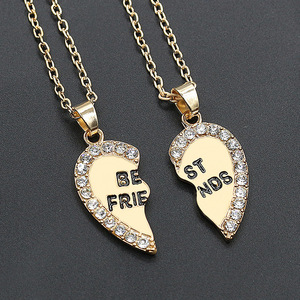 2 Pcs/set Heart-Shaped Pendant