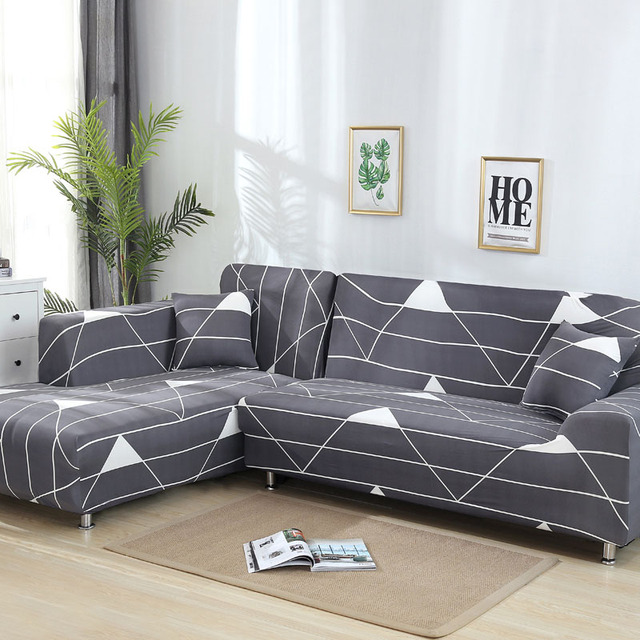 L vormige Sofa Cover Stretch Sectionele Bank Hoes Bankstel