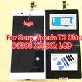 Para sony xperia t2 ultra d5303 d5306 lcd screen display touch com digitador assembléia + adesivo + ferramentas, frete grátis