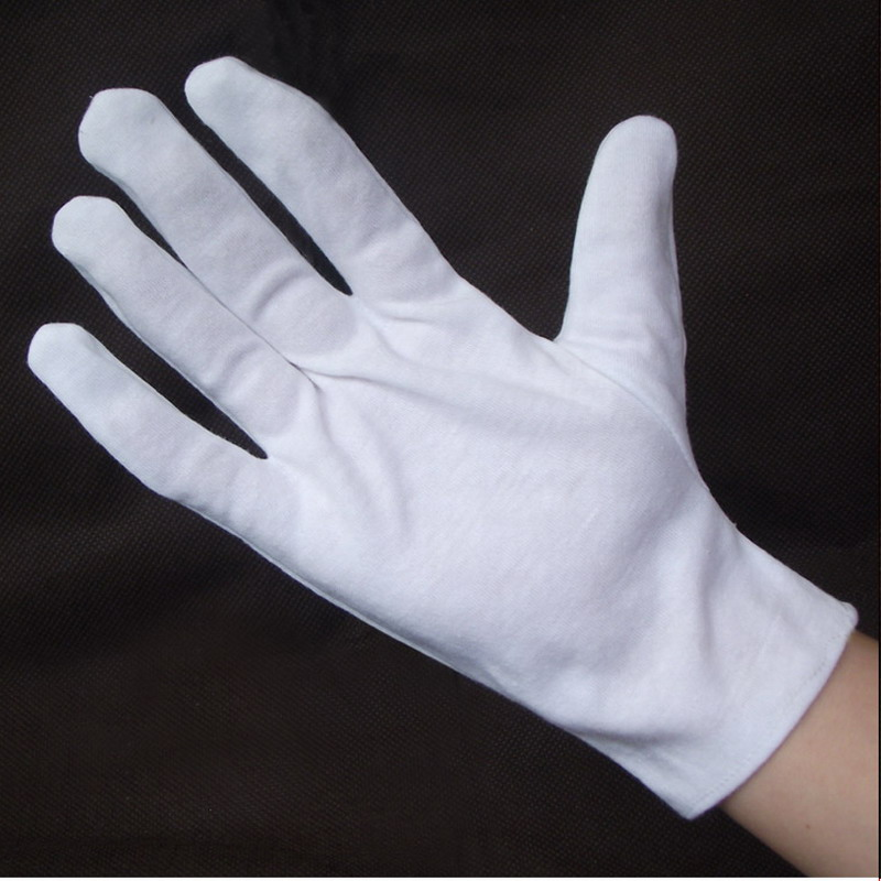 White Knitted Cotton Gardening Glove Work Protection Gloves for performance and protocol oil free comfortable cheap nitrile gloves white nylon knitted hands protection gloves white mechanic construction industry