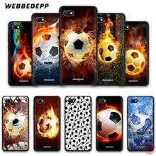 WEBBEDEPP огненный футбольный мяч мягкий чехол для телефона для Redmi Note 8 7 6 5 Pro 4A 5A 6A 4X5 Plus S2 Go чехол s