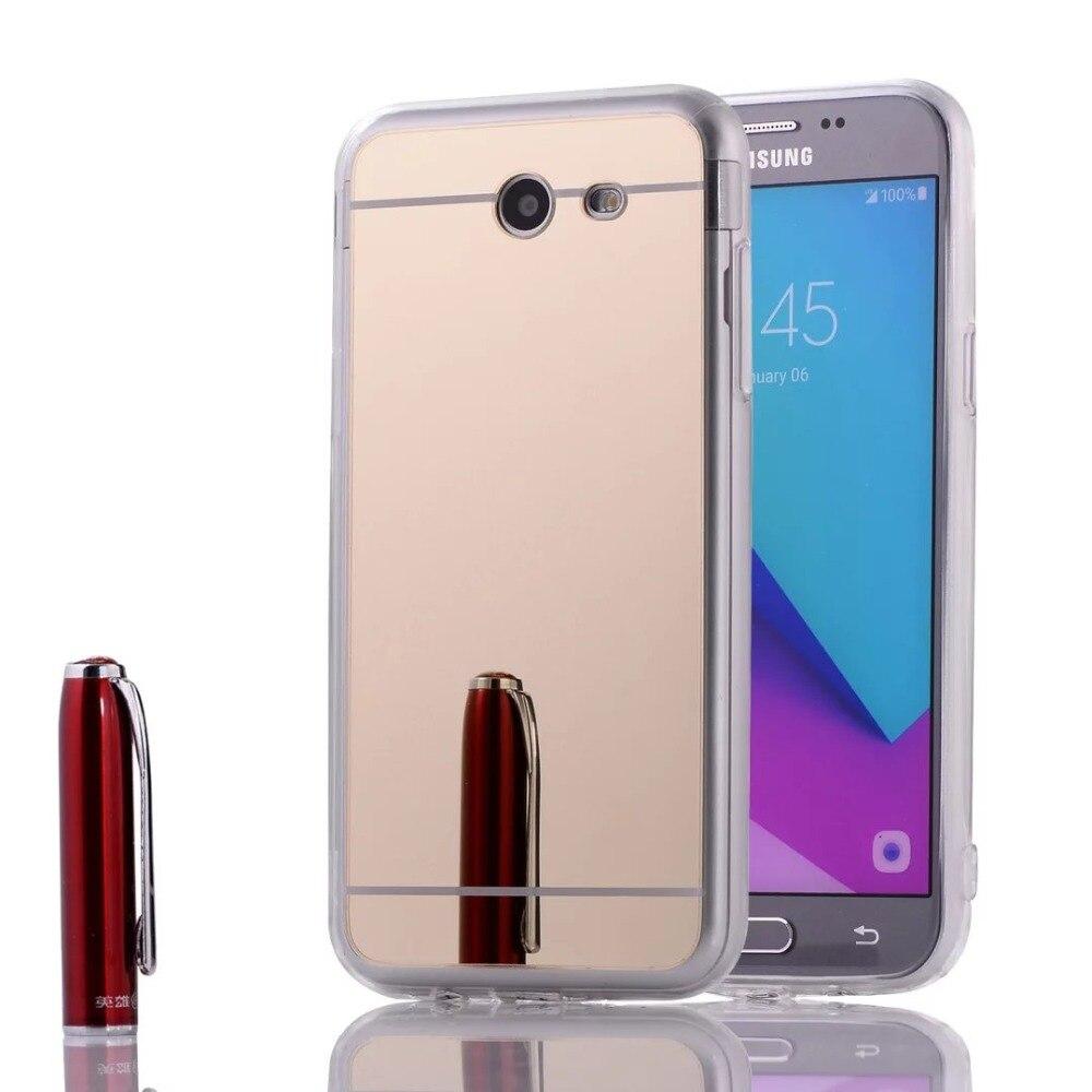 For Samaung Galaxy 2017 A3/A320 A5/A520 A7/A720 J3/J320 J5/J520 J7/J720 Mirror Plating TPU Case Mobile Phone Bag Cover Capa Para