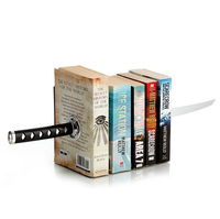 Sword Bookends With Hidden Bracket Magnetic Bookend Bookshelf Shelf Bracket Home Decor Home Office Storage Office