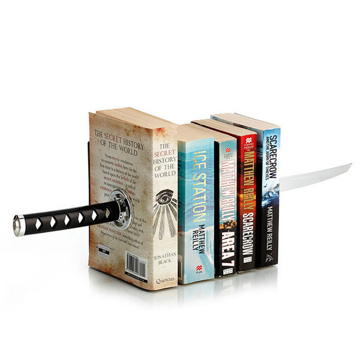 QSHOIC Sword Bookends With Hidden Bracket Magnetic Bookend Bookshelf Bracket Home Office Storage office accessories наушники akg y20 белый y20wht