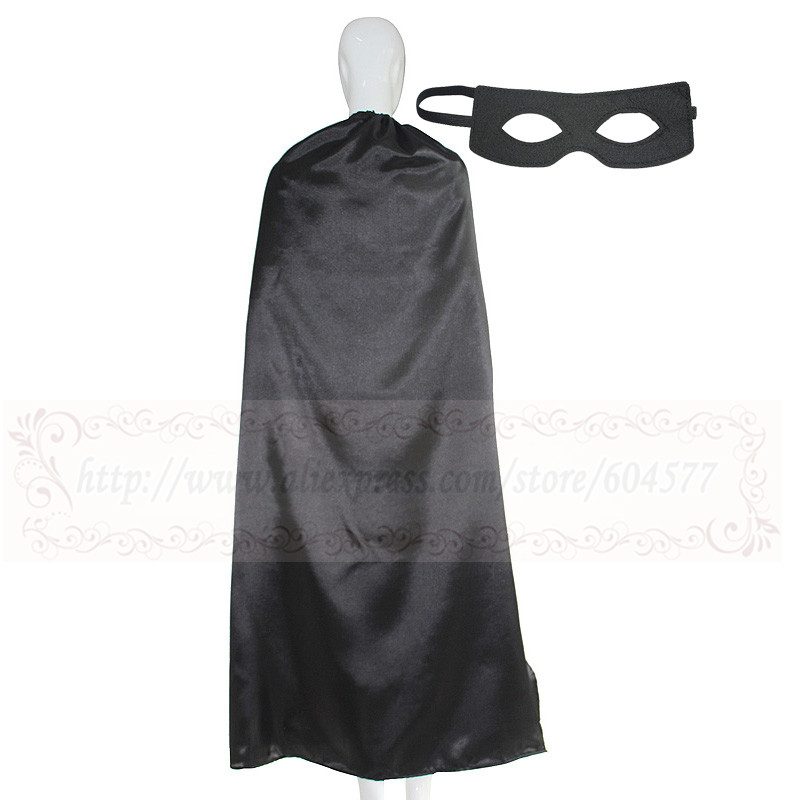 55inch Adult Plain Cape with mask Halloween Costume Party Favors