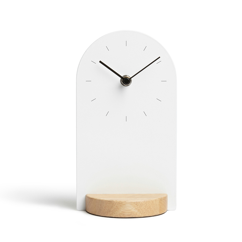 #a Simple fashion solid wood Clocks desk clock Retro Model gift Bedroom Table Clock Living Room Decoration Distress