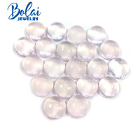 Bolaijewelry,100% Natural rose quartz round 13.0 2 piece in one lot 19.2 ct loose gemstone for jewelry