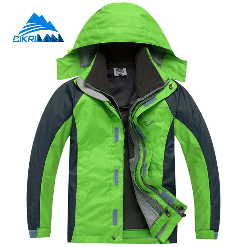 Children Waterproof Windstopper Ski Snowboard Climbing Warm Outdoor Jacket Boys&girls 3in1 Leisure Sports Hiking Camping Coat hot sale camping climbing kids 3in1 outdoor sport waterproof jacket girls boys hiking coat ski casaco 8 16y child fleece liner