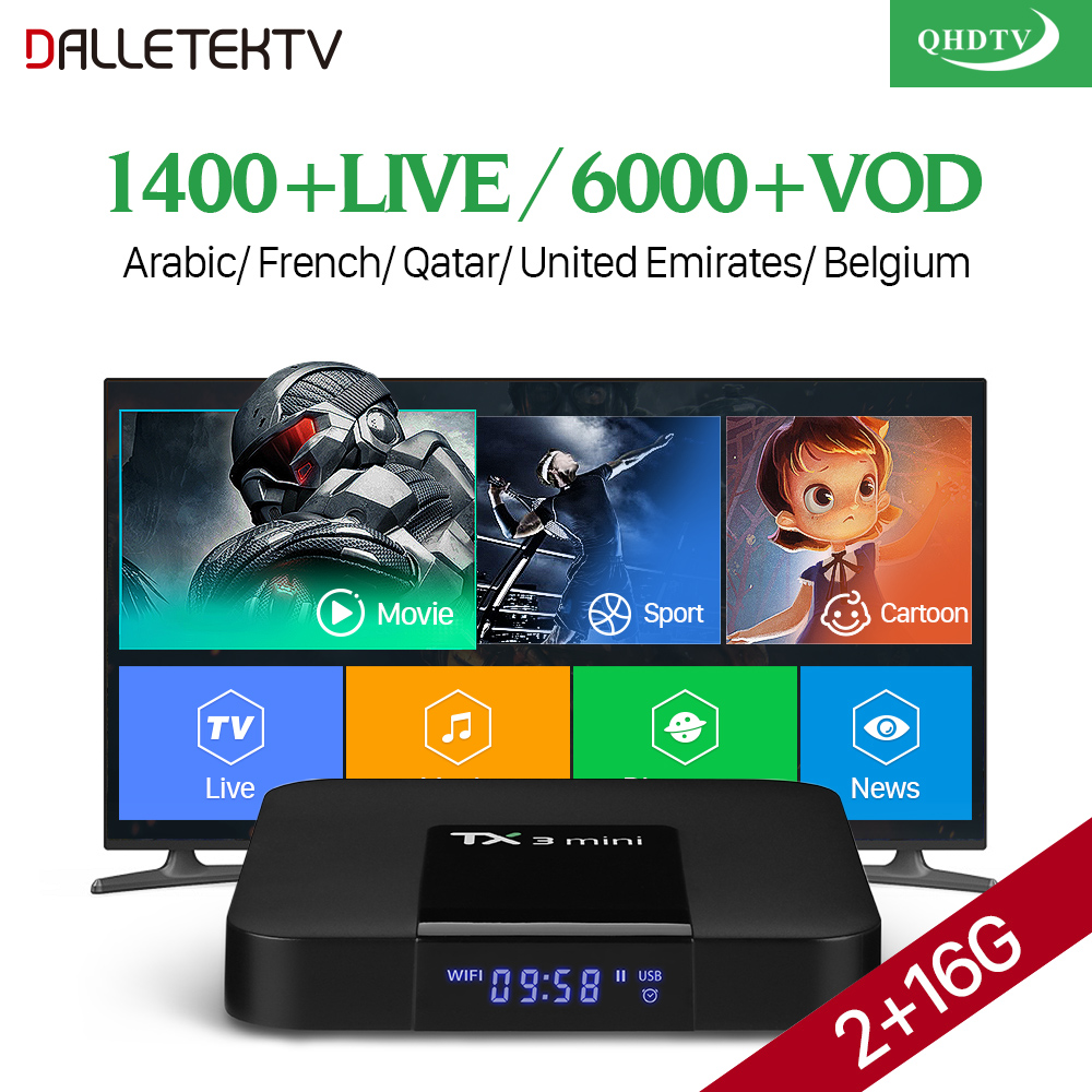 TX3 mini Smart TV Box Android 7.1.2 Amlogic S905W Quad Core 2.4GHz WiFi 1 Year QHDTV Code Europe Belgium French Arabic IPTV Box amlogic s905w quad core android 7 1 tv box tx3 mini 2gb 16gb 1 year qhdtv pro account subscription europe french arabic iptv box