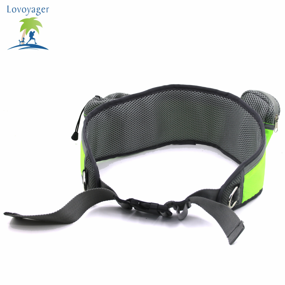 2018 New Design Portable Storage Pocket Waist Bag Pet Dog Training Running Bag With Nylon Stretch Leashes