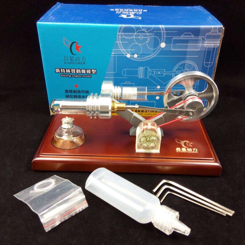 Фотография Air Stirling Engine with 4 LED Funny Educational Toy Kits Power Generator Model