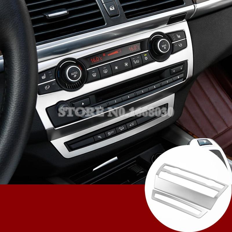 Inner Center Console Panel Cover Trim 2pcs For BMW X6 E71