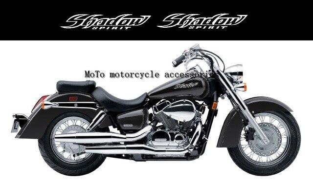Motorcycle cutout sticker gas tank emblem decals shadow logo stickers for honda shadow vt 400 600