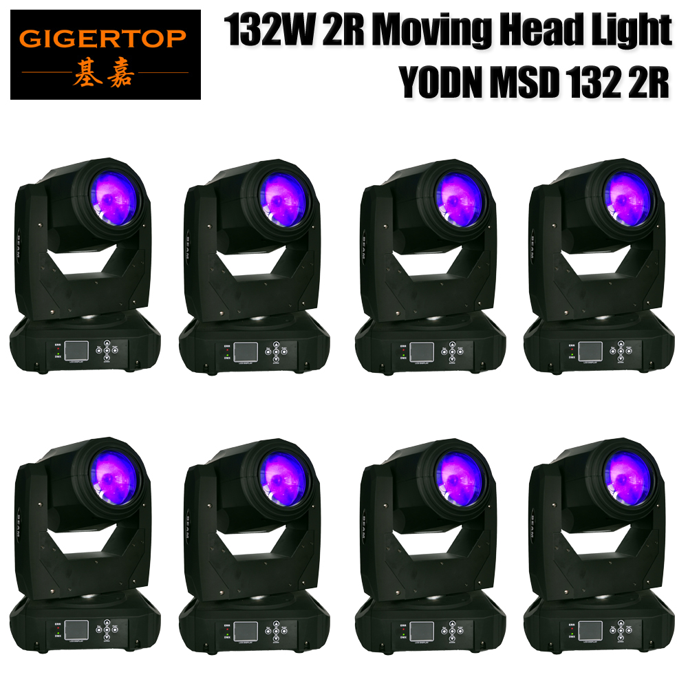 Wholesales Price 8 x 180W 2R Moving Head Light Auto Rotating DMX512 16/20 Channels Sound Control RGB Color Changing Gobo Pattern