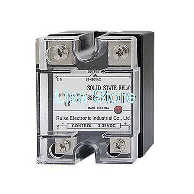 цена на DC-AC 120A Temperature Control SSR Solid State Relay 3-32V DC 24-480V AC