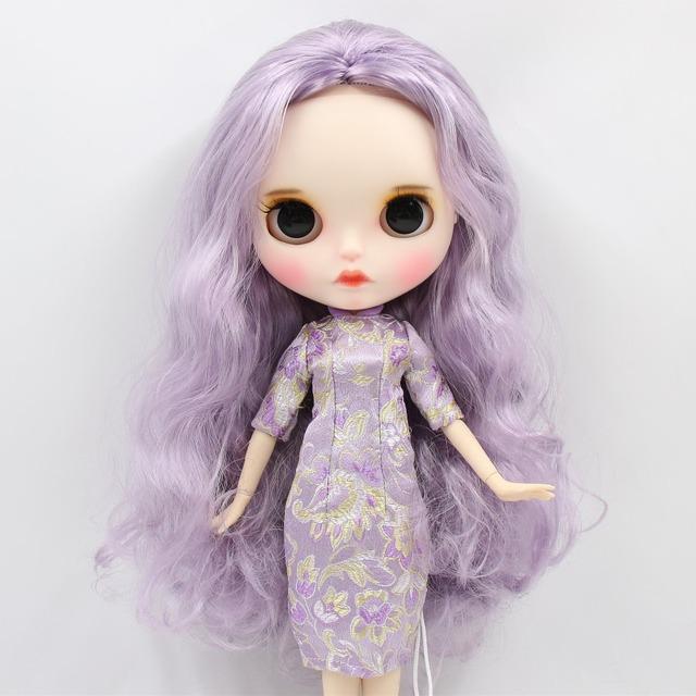 Eva – Premium Custom Blythe Doll with Clothes Pouty Face