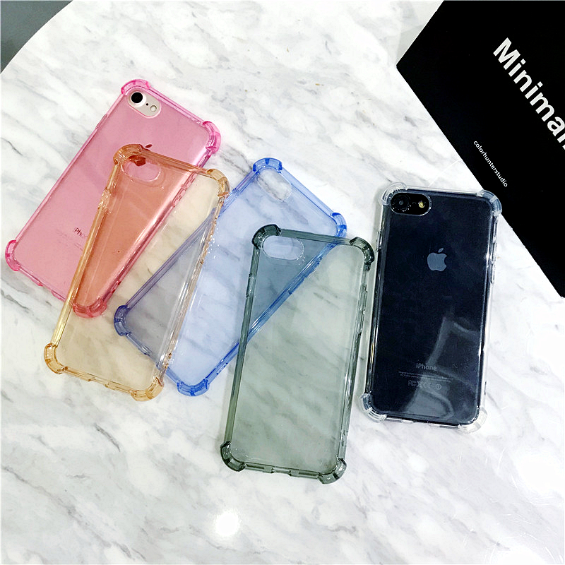 Luxury Anti-knock Transparent Cases For iPhone 7 Case For iPhone X 6 6s 7 8 Plus 10 8 7 6s 6 Soft Silicone Phone Cover Case Capa