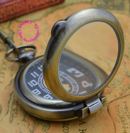 Wholesale Reading Glass Man Mechanical Pocket Watch Buyer Price Good Quality Retro Old Time Style New Bronze Antique