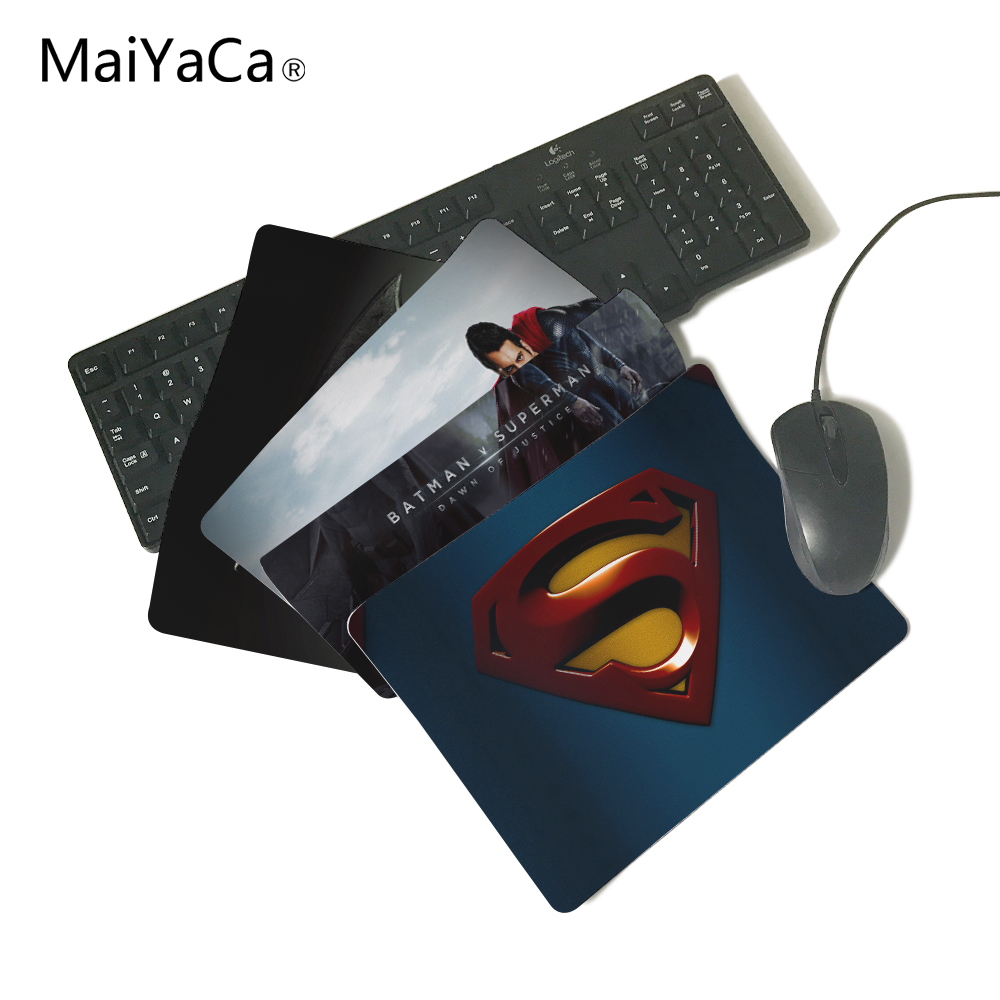 Superman Logo Computer Mouse Pad Mousepads Decorate Your Desk Non-Skid Rubber Pad