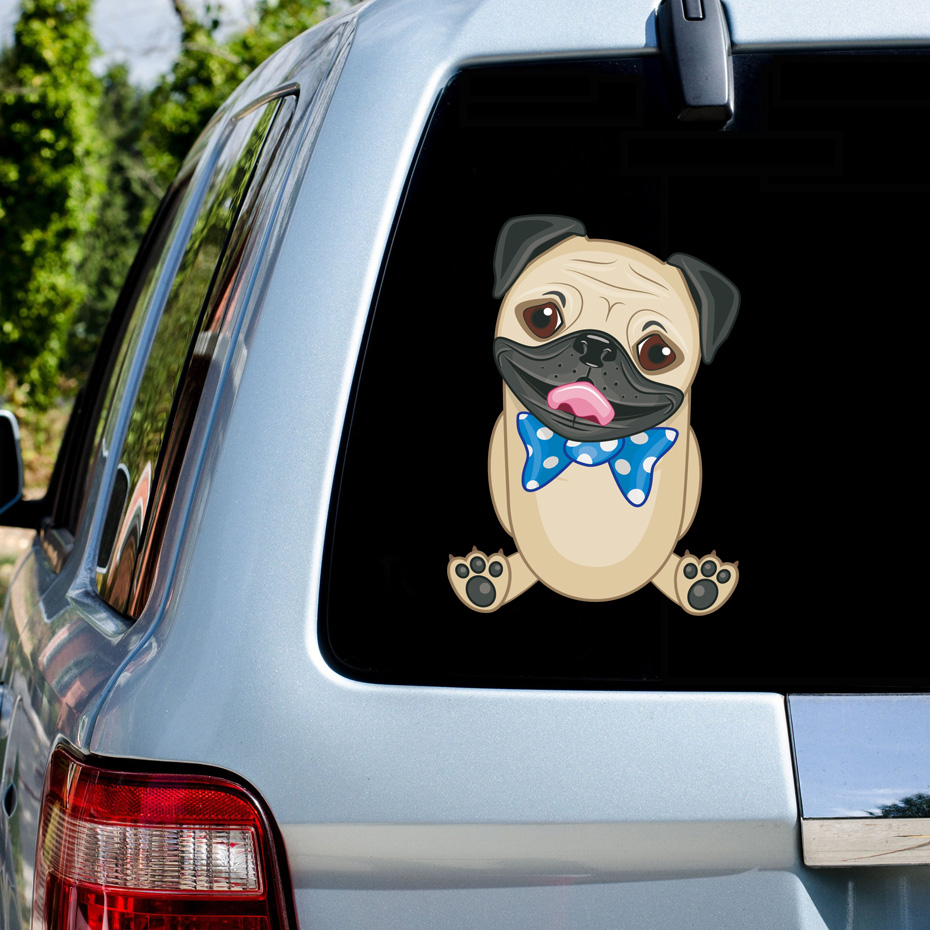 14 10CM New Funny Sheep Car Styling Cute Farm Animal Car Sticker Personality Decoration Car Sticker Decals For Window Laptop in Car Stickers from Automobiles Motorcycles