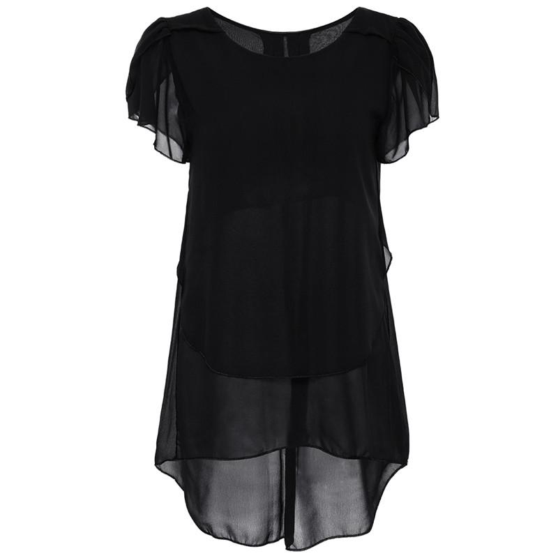 short sleeve chiffon blouse (1)