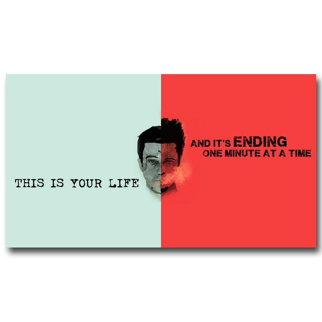 Fight club motivational quotes art silk poster canvas print 13x24 fight club motivational quotes art silk poster canvas print 13x24 24x43inch classic movie film pictures for reheart Gallery
