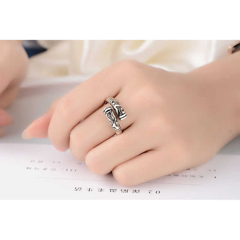 Big Promotion Vintage Rings For Women 925 Sterling Silver Opening Adjustable Finger Rings Jewelry Fashion Party Accessory