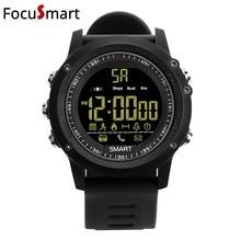 FocuSmart 5ATM Resistente À Água Relógio Inteligente Bluetooth 4.0 Chamada SMS Lembrete Atividades rastreador Esportes Pedômetro Ultra-longo Estande