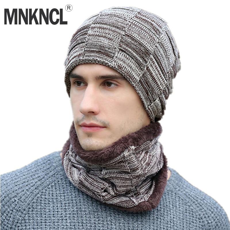 2018 New Men   Beanies   Casual Balaclava Knitted Hat Fashion Neck Warmer Winter Hats For Woman   Skullies     Beanies   Warm Fleece Hat