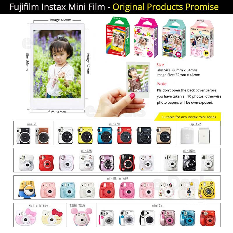 Fujifilm Instax Mini Instant Film Rainbow & Staind Glass & Candy Pop & SHINY STAR Film  10 Sheets X 4 Assort Value Set-in Film from Consumer Electronics    2